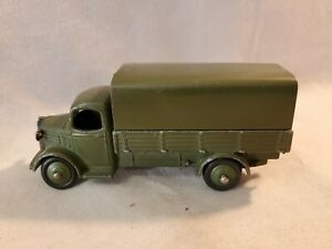 Vintage 1952-54 Dinky 30SM Military Austin Covered Wagon Truck US Market Only NR