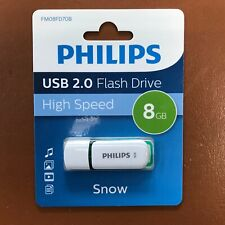 PHILIPS 8 GB SNOW HIGH SPEED USB Flash Drive Memory Stick Pen Drive 8GB