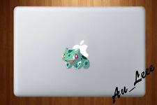 Macbook Air Pro Vinyl Skin Sticker Decal Pokemon Go Game Bulbasaur Cute cmac216
