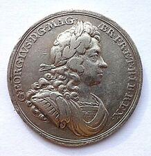 More details for 1714 coronation of george i silver medal/medallion ( eimer 470 ) avf/vf