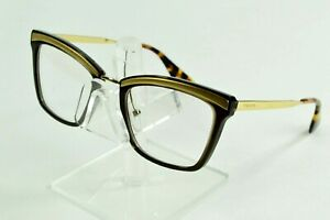 Prada Eyeglasses Catwalk Brown Gold Tortoise VPR15U-KJM1O1 50/19/140