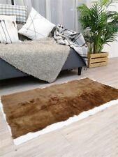 "Real Rabbit FUR Throw Blanket Patchwork Skin Fur Rug 24""x 43'' Pelz Leather Pelt"