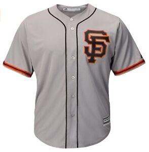 MLB Baseball Jersey San Francisco Giants Gray Sf Logo cool base Majestic Jersey