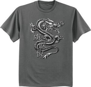 Mens Graphic Tee Dragon T-shirt Clothing Apparel Chinese Symbol Dragons