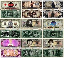 YOU CHOOSE 40 Assorted Collectible Funny Money Novelty Notes With 4-Pocket Pages