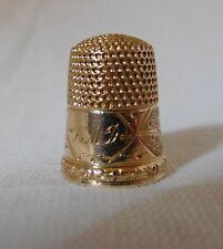 Antique 14 ct rose gold thimble size 5... c 1950 United States.