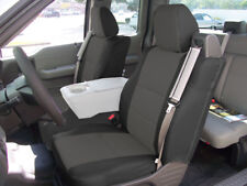 FORD F-150 04-08 S.LEATHER FRONT SEAT COVER BUILT IN SEATBELT BLACK/CHAROAL