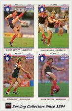 1992 Regina AFL Trading Cards Club Team Set Melbourne (12) -- Mint!
