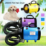 Low Noise 2800W Pet Dog Cat Grooming Hair Dryer Blower Variable Speed /