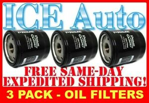 3 PACK - Prime Guard Premium Engine OIL FILTERS (Fram, Wix, AC Delco)