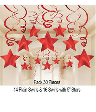 Valentines Day Romantic Red Swirl and Stars Hanging Party Decorations 674474.40