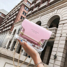 Clear Tote Chain Bags for Women Handbag Jelly Transparent Small Square Crossbag