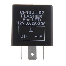 Universal Electronic LED Flasher Relay 3 Pin 12V Motorcycle Signal Adjustable