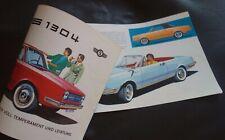 GLAS 1304 / TS + 1004...Cabrio + Coupé + Limousine...12-Seiten-Prospekt RAR 1966