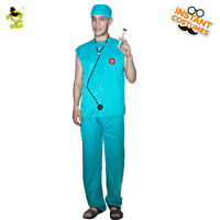 Men's Surgeon Costume Medical Doctor Role Paly Costumes For Halloween Masquerade