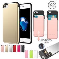 GOOSPERY Anti-shock Matte Dual Slide 2-Card Bumper Case for iPhone 11 XR 8 Plus