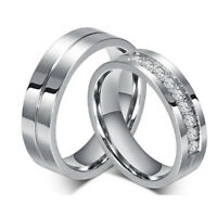 Fashion Women's Men's Tungsten Carbide Band Ring For Wedding 6 MM Size 5-12