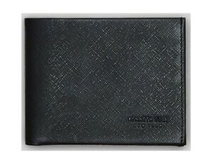 New Authentic Kenneth Cole Men's Saffiano Leather Double Billfold Wallet SALE