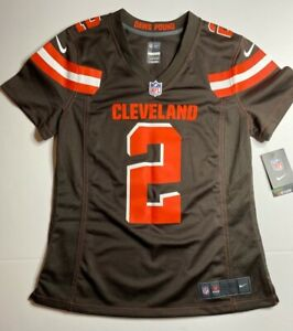 Johnny Manziel Cleveland Browns Nike Womens Jersey Brown Red NFL Football M New