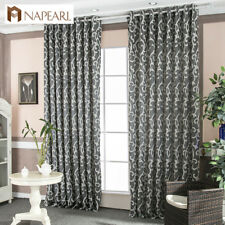 NAPEARL 1 Panel Jacquard Rustic Decor Curtain Bedroom Grommet Ready Made Drapes