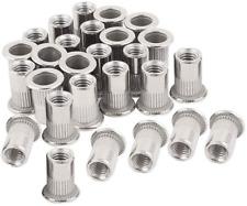 40pcs 8 32 Rivet Nuts Threaded Insert Nutsert Rivnuts Stainless Steel 8 32unc