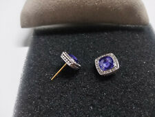 David Yurman Women's Classic 7mm Sterling Silver Albion Amethyst Stud Earrings