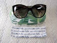 Stella & Dot Parker Tortoise Sunglasses & Hello Sunshine Fern Sunglass Case NEW