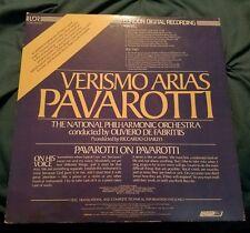 "VERISMO ARIAS PAVAROTTI National Philharmonic Orchestra LDR 10020 Record 12"""