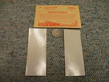 """Champ decals HO Alphabet Numbers L-54 Globe Extended white 5/32""""  H66"""