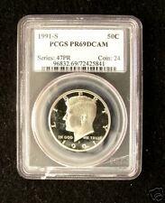 1991-S PCGS PR69 DCAM Kennedy Half Dollar