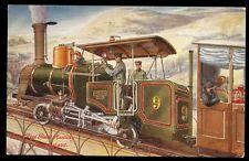Railway Switzerland RIGI RACK Railway early Tuck Oilette #9274 PPC