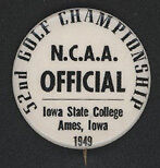 "1949 N.C.A.A. Golf Championship ""OFFICIAL"" Pinback"