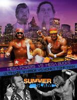 SummerSlam 1988 Hogan V Savage Honky Tonk V Warrior Wrestling Print 8x10 WWF WCW