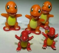 5 Vintage Charmander TOMY cgtsj Nintendo Burger King Pokemon Mini Figure Toy Lot