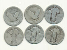 Roll 90% Silver No Date Standing Liberty Quarters - 40 silver coins