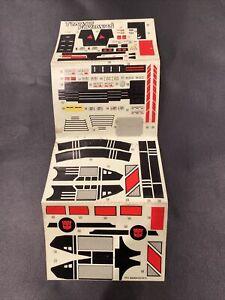 Unused JETFIRE STICKER SHEET - G1 Transformers 1985 Vintage Hasbro