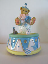 "NIB Cherished Teddies Clown Sitting on Ball Musical 336459 ""You Are My Sunshine"""