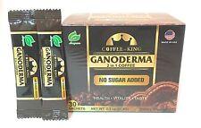1 BOX Coffee King Ganoderma Lucidum Black Premium Coffee 30 Sachets + 2 Samples