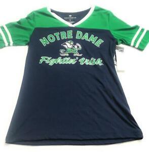 New Colosseum Women's Notre Dame Fighting Irish Jersey, Green/Blue, Small