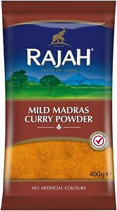 RAJAH MILD MADRAS CURRY POWDER A TASTE OF HOME SPICES FROM FINEST REGIONS.