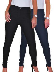 Washable Skinny High Waist Office Work School Trousers 4-18
