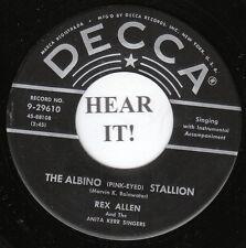 Rex Allen C&W COWBOY 45 (Decca 29610) The Albino Stallion/Daddy, You  VG++/M-