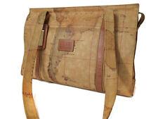 Authentic ALVIERO MARTINI PRIMA CLASSE PVC Leather Browns Tote Bag PT11415L
