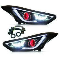 For Elantra 2011-2016 Sedan 2013-2014 Coupe with DRL DEMON EYES LED Headlights