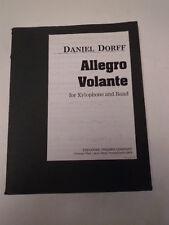 Allegro Volante Xilófono y banda Partitura Completa Piccolo Flute Oboe Clarinete # 37b177