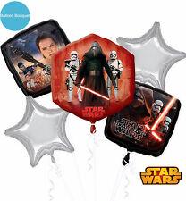 Star Wars Party Supplies FOIL BALLOON BOUQUET Episode VII Helium Anagram