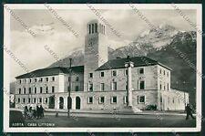 Aosta Città Casa Littoria Foto cartolina EE7231