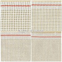 QTR METRE OF 10 / 12 / 14 / 18 HPI ZWEIGART WHITE MONO INTERLOCK TAPESTRY CANVAS