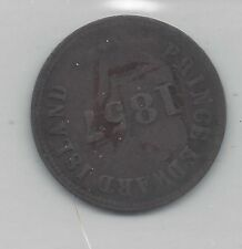 **1857**PEI Self Gov. Free Trade Token, PE-7C1 Coin Mart Graded**VF-20**