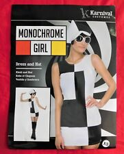 NEW Karnival Monochrome Girl Costume Sz XS Bodycon Style  ***FREE SHIPPING***